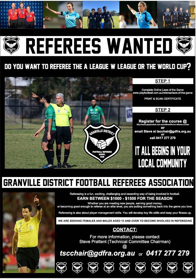 Level 4 Referees  Course Flyer