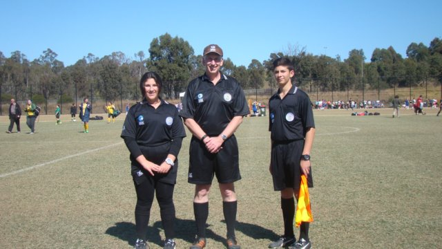 Referee at a Junior Game